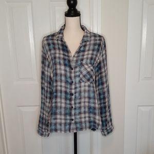 Bella Dahl Plaid Button Down Shirt